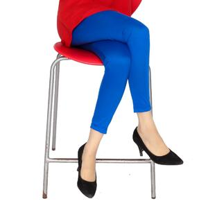 Dija's Women Winter Collection Stitched Blue Plain Tights  - Tights-D-002