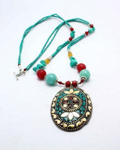 Feroza Stone Necklace Green GB2126