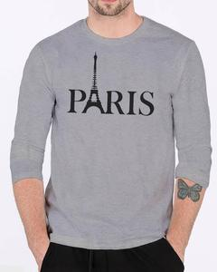 Paris Grey Round Neck High Printed Design High Quality Full Sleeve Tshirt