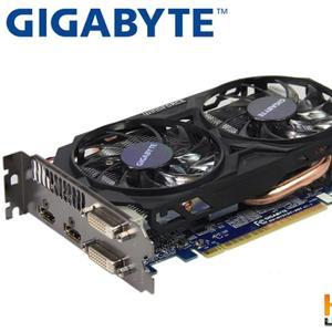 GIGABYTE Video Card Original GTX 750 Ti 2GB 128Bit GDDR5 Graphics Cards for nVIDIA Geforce GTX 750Ti Hdmi Dvi Used VGA Cards