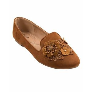 Brown Artificial Leather Womens Pumps 071-267