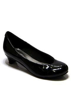English Boot House Black Rexine Pumps - 0018-2228 - US Size