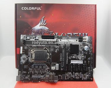Colorful Motherboard with 6 GPU Risers