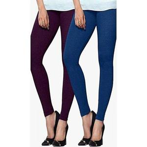 T Shirts & Tops Summer Collection 2019 Pack of -2 Purple & Royal Blue Tights For Women