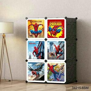 High Quality Portable Wardrobe Plastic Doraemon 6, 8 and 9 Cubes Design DIY Clothes Stackable Cube Storage for Kids Children