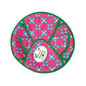 Quickshopping Cotton Roti Basket - Round - Purple Flower