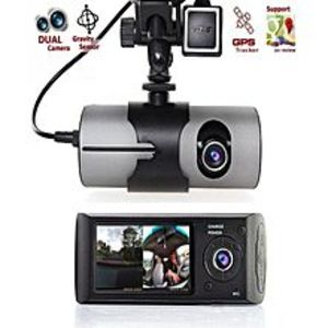 Auto Transforms Store  Car DVR Camera Video Recorder Dash Cam G-Sensor Dual Lens - Black