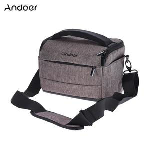 Andoer Cuboid-shaped DSLR Camera Shoulder Bag Portable Fashion Polyester Camera Case for 1 Camera 2 Lenses and Small Accessories for Canon Nikon Sony FujiFilm Olympus Panasonic