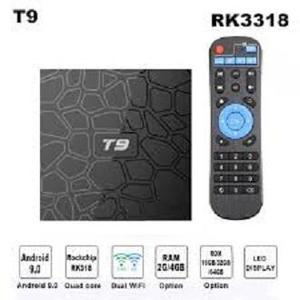 SMART BOX T9/ Android 9.0 TV Box T9 RKchip QuadCore USB 3.0 4K Set Top Box 2.4G/5G Dual WIFI 2G16G Smart Media Player 4GB+64GB QUAD CORE 4K ULTA HD 9.0V