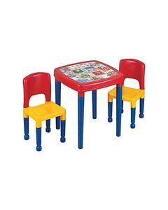 Crackers Baby Table And 2 Chairs-Plastic-Multicolor