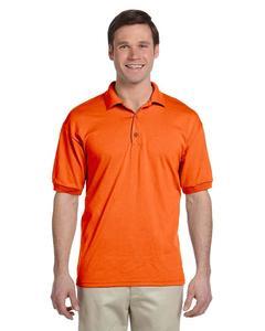 Orange Mix Cotton Polo Shirt For Men