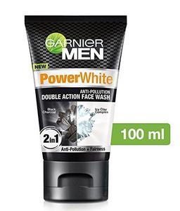 Garnier Men Power White Double Action Face Wash, 100gm