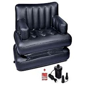 A-N deals 5In1 Inflatable Sofa Air Bed - Black