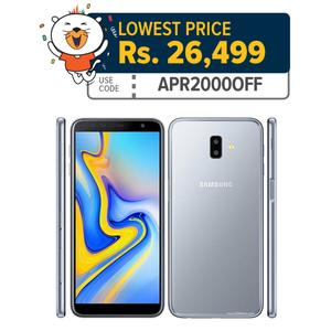 """Samsung Galaxy J6+ - 6.0"""" - 3GB 32GB - 13 / 8MP - 3300 mah - LTE with stickers included in box"""