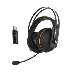 TUF Gaming H7 Wireless gaming headset for PC, Apple and PlayStation® 4 with 2.4GHz wireless connection, 15+ hour battery life, 53mm drivers, eyewear-friendly ear cushions, and stainless-steel headband