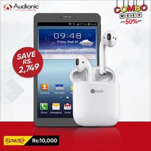 DANY COMBO DEAL - Buy Genius Star-8 Tablet With HI POD ( 2 In 1 ) - Worth Rs.12,749/- & Now Rs.10,000/-