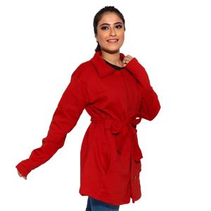 Red Stylish long Coat For women