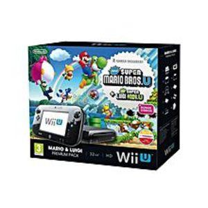 Nintendo Wii U With Super Mario Bros - NTSC - Black