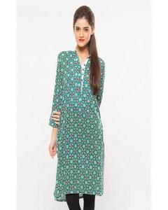 Green Cotton Kurti For Women