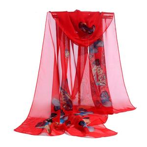 FashionieStore Woman's scarf Fashion Women Chiffon Soft Wrap scarf Ladies Shawl Scarf Scarves BK