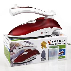 Sokany Traveling Iron Deluxe Foldable Steam and Dry Travel Iron Light weight 800 watts Red