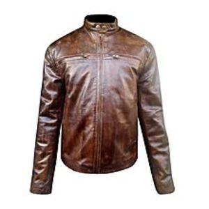 TASHCO ClothingDistressed Brown Leather Jacket