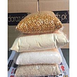 Bajwa TraderPack of 4 - Rice, Sugar, Daal Channa & Basin - 1000 Grams