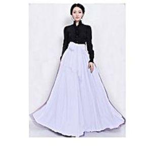 Aiza boutiqueWhite Net And Silk Dress For Women
