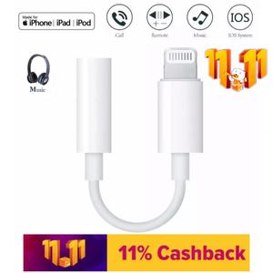 Iphone Lightning to 3.5mm Headphone Jack Adapter Apple Earpods Audio Cable Adapter For iPhone iPad Iphone 5 / 5c / 5s / 6 / 6 Plus / 6s SE / 7