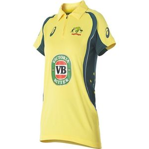 Hafiz Sports Yellow Cotton Australian Cricket Team T-Shirt For Men