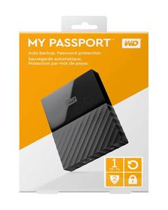 WD 1TB My Passport  Portable External Hard Drive - USB 3.0