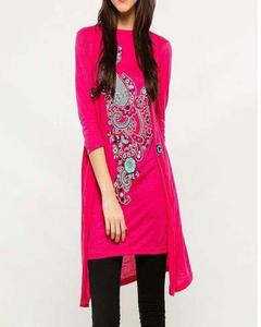 Pink Viscose Tunic For Women