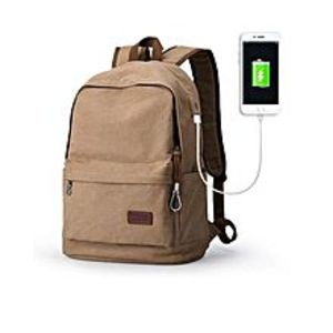 Umar Traders Muzee 15.6 Inch Laptop Backpack With Usb Charging Port Bag - Khaki