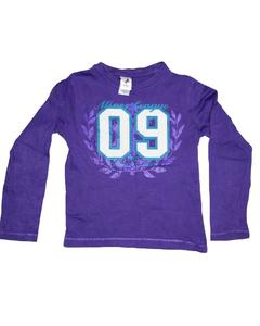 Pack of 9 - Printed Purple Cotton Full Sleeves T-Shirt