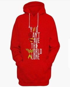 Rex Bazar - Red Justice League Printed Hoodie For Men
