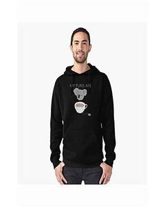 Black Printed Hoodie For Men