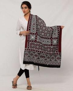 Multicolor Color 100% Cotton Sindhi Ajrak Shwals ( Happy Winter )