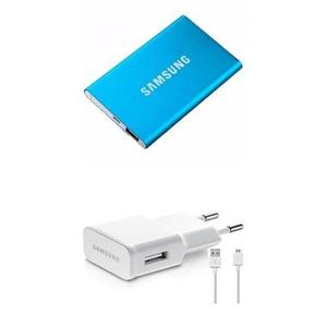 Slim 12000 Mah Power Bank With 2Amp Samsung Charger & Cable