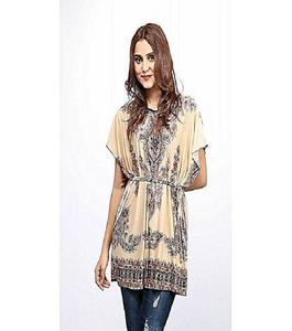 Multicolor Ity China Fabric Tunic For Women