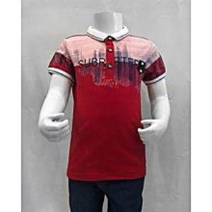 Tiny TodsRed Premium Quality Imported Polo Shirt For Boys