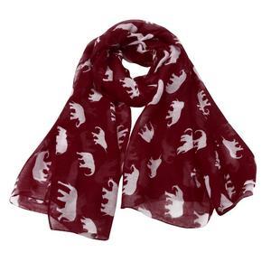 Lady Womens Long Cute Elephant Print Scarf Wraps Shawl Soft Scarves