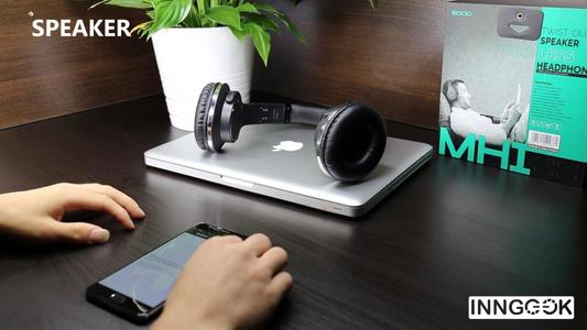 New sodo mh1 nfc 2in1 twist-out speaker bluetooth headphone with