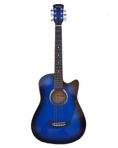 Acoustic Guitar Medium Size With Metal Tuning Keys & Truss Rod - Blue Burst