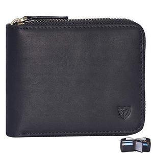 Mens Leather Zipper wallet Zip Around Wallet