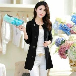 Black Winter Ladies Korean Coat by Hit & Fit Collection