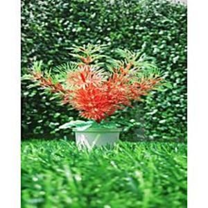 NS CollectionMini Poaceae Red Artificial Tree