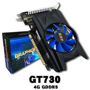 TE 4GB GDDR5 128Bit PCI-E Game Video Card Graphics Card for GT730 With Cooler Fan grey&black