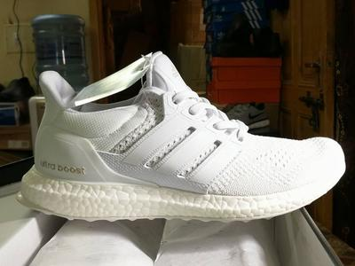 Adidas Ultra Boost J&D Triple White, Men Fashion Running shoes