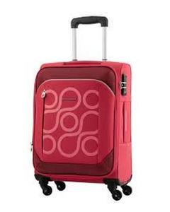 HARITA Spinner 4 Wheels Soft Trolley Suitcase 55 CM - Red