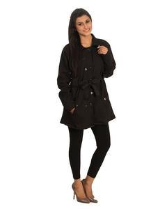 Black Ladies  fleece coat - ARA-CoatW-Bl1